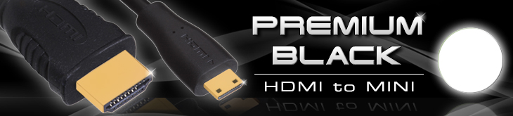Premium Black HDMI-MINI Cable