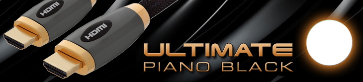 Ultimate Piano Black HDMI Cable