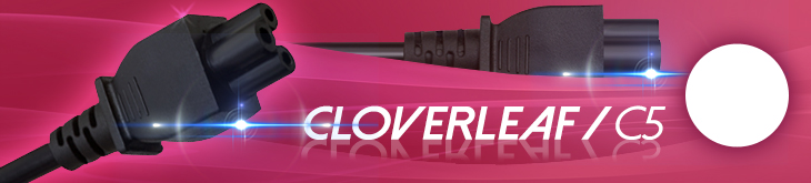 UK Mains to Cloverleaf / C5 Cable