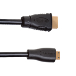 1.5m Mini HDMI to HDMI Cable, compatible with Plasma