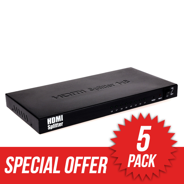 5 Pack HDMI Splitter 1 in � 8 out