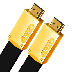 0.5m HDMI Cable - Ultra Flat Gold