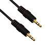 2.5m Premium 3.5mm to 3.5mm Black Audio Cable (PA2.5BLK)