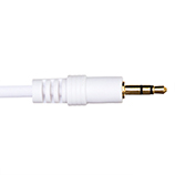 0.5m Premium 3.5mm to 3.5mm White Audio Cable