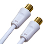 1m Premium White Coax TV Aerial Cable (PC1WHT)