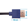 6m HDMI Cable - Smallest Head SUPREME BLUE 'In The World' (SH6BLU)