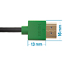 1m HDMI Cable, compatible with Xbox One - Smallest Head SUPREME GREEN 'In The World' (SH1GRN)