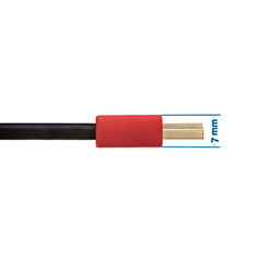 1m HDMI Cable - Smallest Head SUPREME RED 'In The World' (SH1RED)