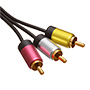 1m Ultimate Platinum 3 RCA to 3 RCA Cables  (UP3R1)