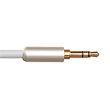 1m Ultimate Platinum 3.5mm to 3.5mm White Audio Cable