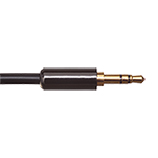 2.5m Ultimate Piano Black 3.5mm to 3.5mm Black Audio Cable.