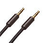 1.5m Ultimate Piano Black 3.5mm to 3.5mm Black Audio Cable. (UPBA1.5)