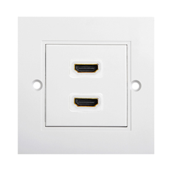 HDMI High Speed With Ethernet Wall Plate 2xHDMI F/F (WS2)